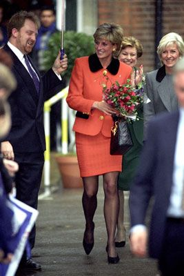 Princess Diana At Leprosy 'success And Challenge: A Celebration Of 30 Years Of Ilep' Aspatron Of The Leprosy Mission In Great Britain At The Wellcome Trust, London, December 1996.