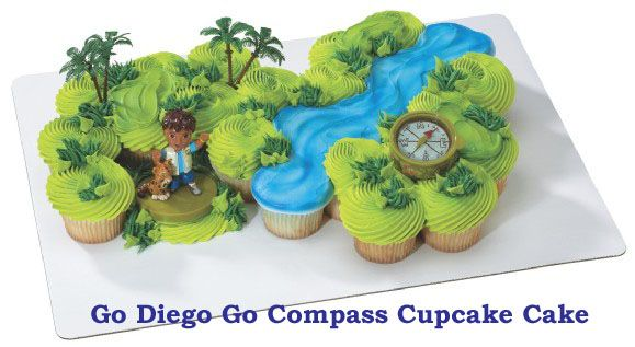 diego cupcake cake, look at this website for AMAZING cupcake cakes - too many awesome ones to pin :P