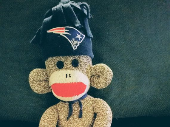 New England Patriots Sock Monkey Sock Monkey Toy Handcrafted