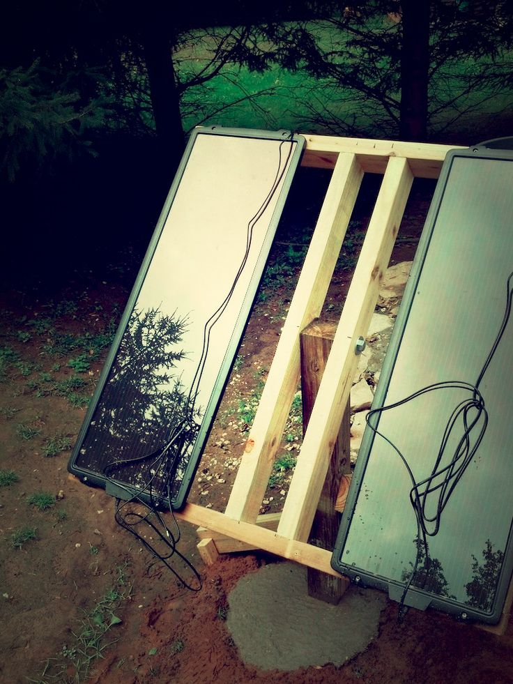 Simple Solar Panel Mount From Wood Off Grid Pinterest