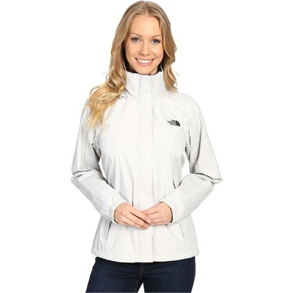 The North Face Resolve Jacket (Lunar Ice Grey (Prior Season)) ($73) ❤ liked on Polyvore featuring white and the north face