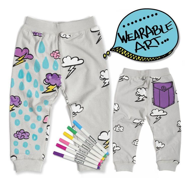Monster purple pocket pants colouring kit | hardtofind.