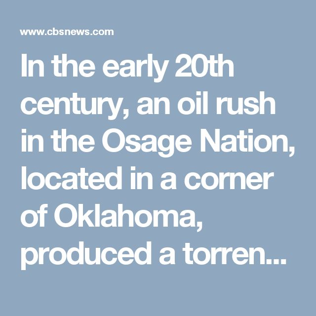 """In the early 20th century, an oil rush in the Osage Nation, located in a corner of Oklahoma, produced a torrent of oil revenues for the Native American tribe, making them the richest people per capita in the world - """"the Kuwaitis of the 1920s,"""" one writer observed. But their wealth invited greed, exploitation and murder on the part of white """"guardians"""" who came to control the Osage's money, and would lead to the first major investigation by the FBI. David Grann, author of the bestseller…"""