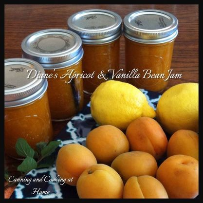 Apricot and Vanilla Bean Jam by Canning and Cooking at Home. YUM