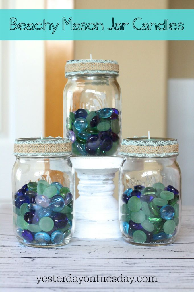 3 Beachy Mason Jar Candle Ideas How
