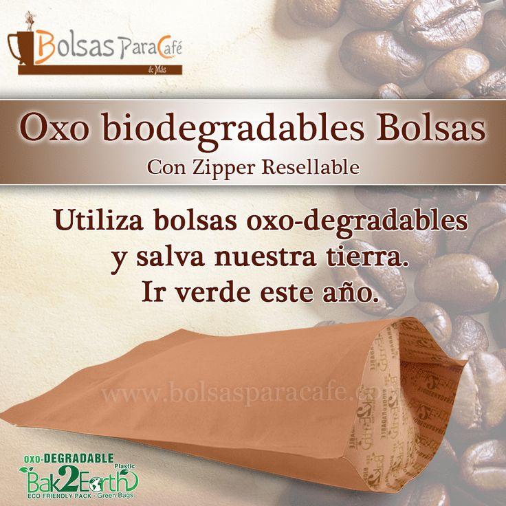 Ofrecemos #Bolsas #Oxo_Biodegradables, las cuales proveen una apariencia más natural y son una forma de empaque flexible e innovador amigable con el medio ambiente. Para más información visítanos en.... www.bolsasparacafe.com/bolsas-de-papel-para-cafe/