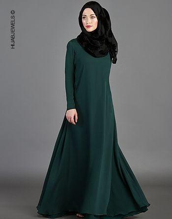 Hafsa Motif Double Layered Dress