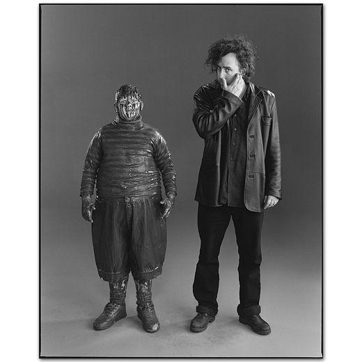 Tim Burton With Philip Wiegratz, Charlie and the Chocolate Factory, Pinewood Studios, England 2004 -