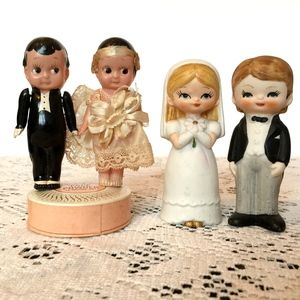 The Fabulous Vintage Bride cake toppers