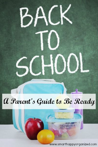 Back to School: A Parent's Guide to Be Ready | www.smarthappyorganized.com |Like it or not, the summer is flying by which means the back to school season is starting soon. With that comes new or old routines, school supplies to get, and a growing to do list for parents. This is a time of excitement for things to come- including new outfits, haircuts, and the all too familiar- dread of rushed mornings! Let's make this the year of a seamless start! This list will help you ease you into the…