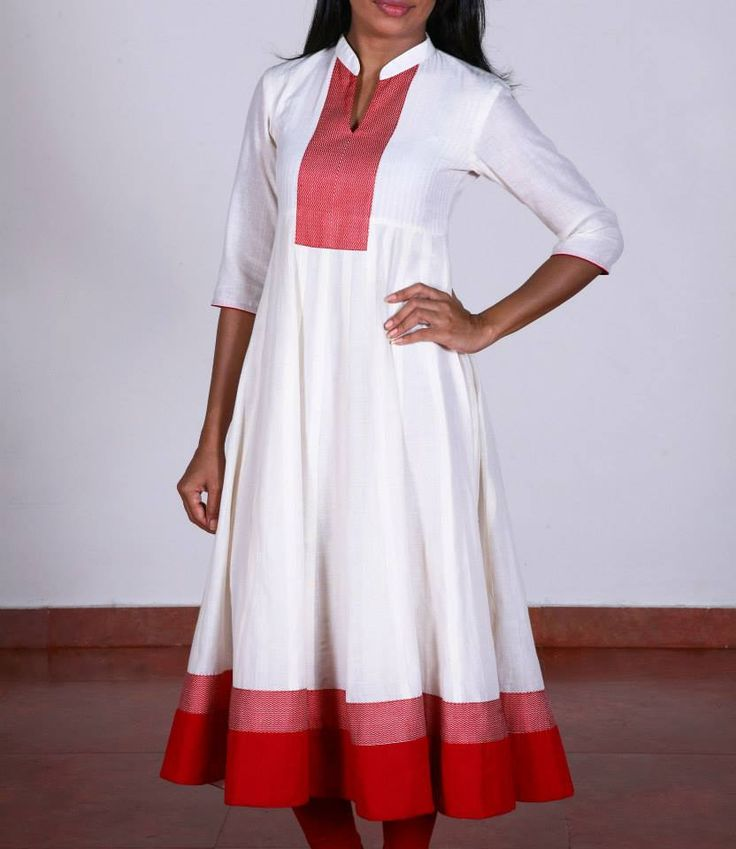 Shop for this collection at http://www.shalinijamesmantra.com/classic-creme/off-white-with-red-anarkali.html#off white red anarkali#anarkali kurta online