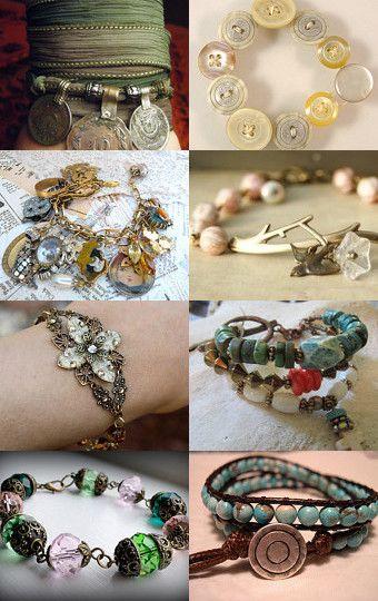 Mismatched buttons bracelet