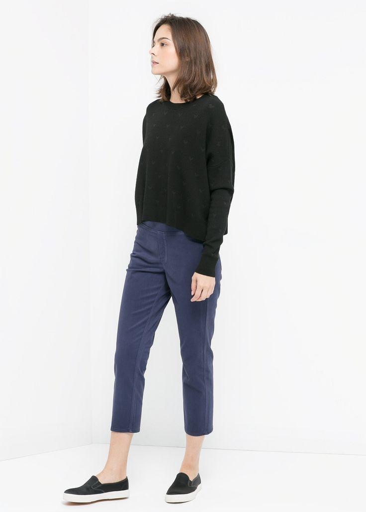 Cotton cropped jeggins