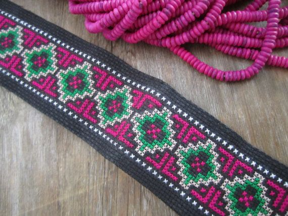Hmong Hill Tribe hand stitched tapestry piece for by TintinBeads