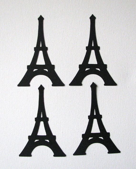 Small eiffel towers die cut embellishments in any color for Decoration or embellishment crossword