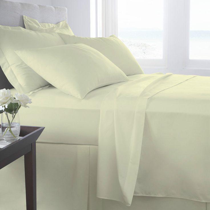 Egyptian Cotton 800 Thread Flat Sheets | Cream – Linens Range