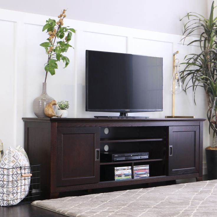 Delightful This 70 Inch TV Stand Is The Perfect Addition To Any Living Room. The. Espresso  Tv StandEspresso MartiniWood ...