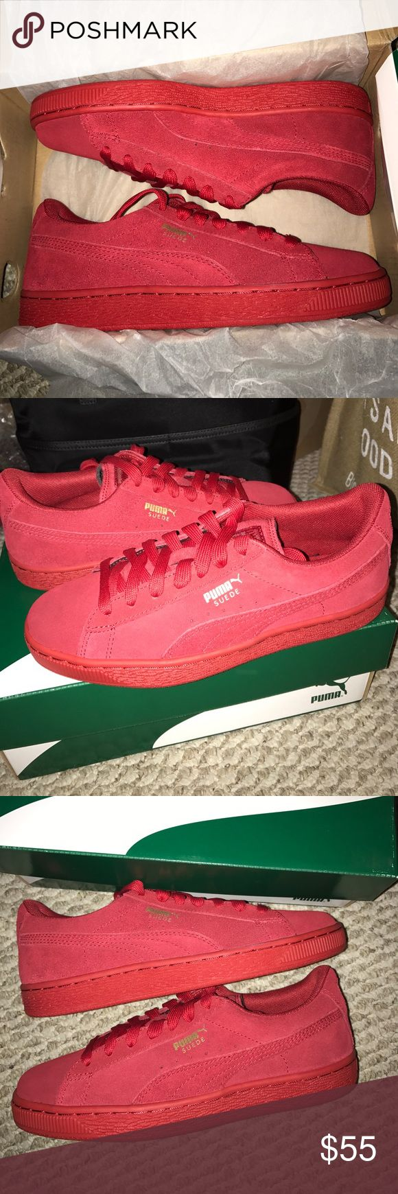 Brandnew 🍒 Barbados Cherry-Gold 🍒 BNWOT Barbados Cherry Red -Gold Puma sneaker. This kicks are literallllyyyy in fire 🔥 Puma Shoes Sneakers