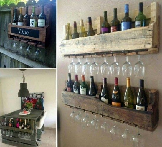 Pallet coffee mug rack an easy diy video tutorial pallet for Crate wine rack diy