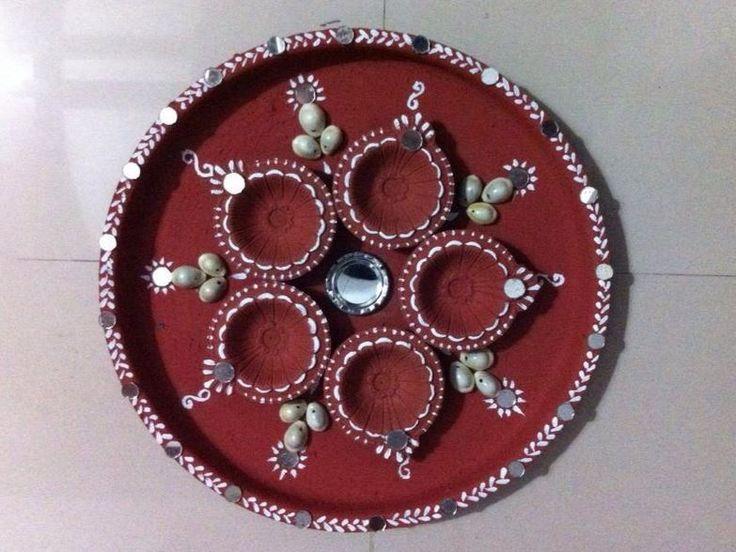 Pooja ki thali decoration stuff i want to make for Aarti thali decoration with kundan