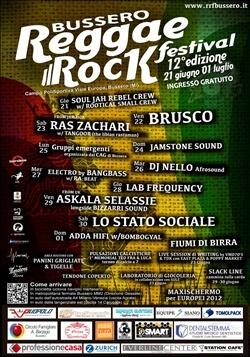 Musica, arte e solidarietà per il Reggae Rock Festival di Bussero dal 21 Giugno al 1 luglio 2012