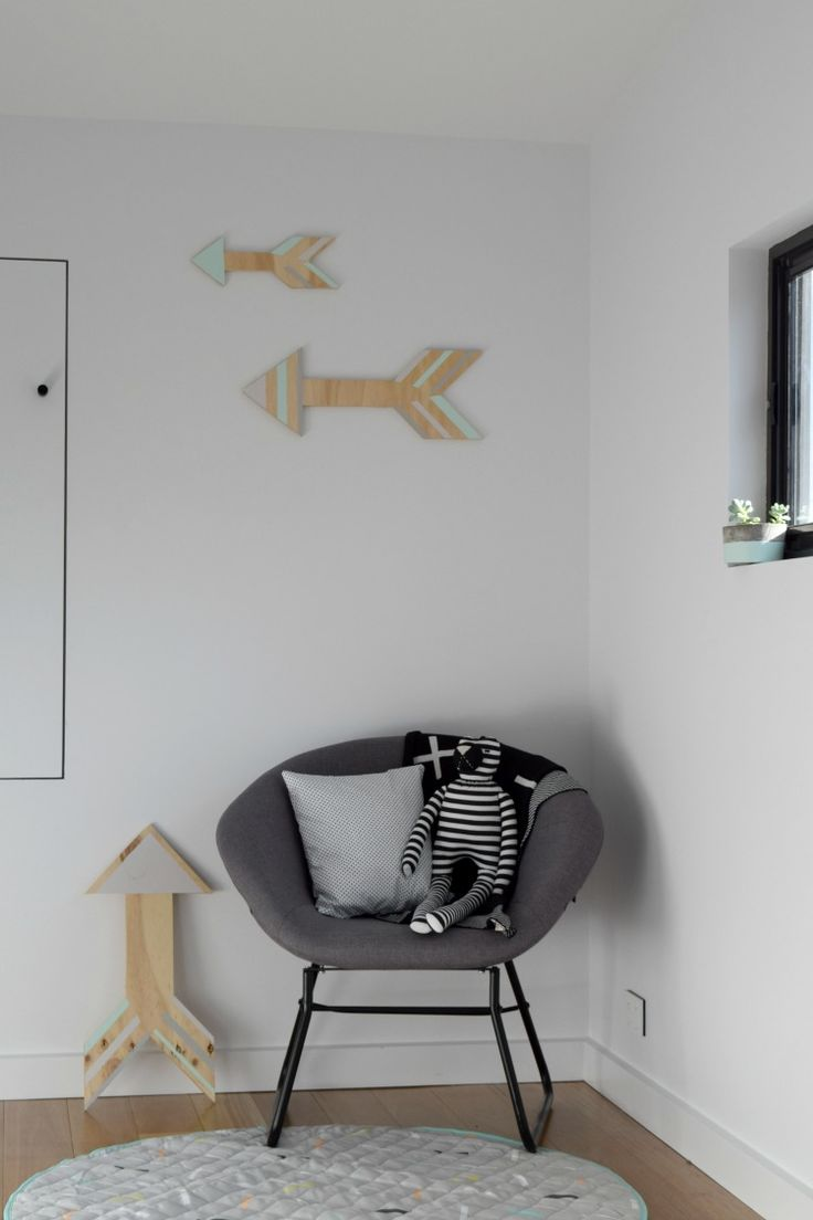 A trend swooping nursery interiors is arrow wall art! Today we're sharing our take on a DIY ply arrow wall art.