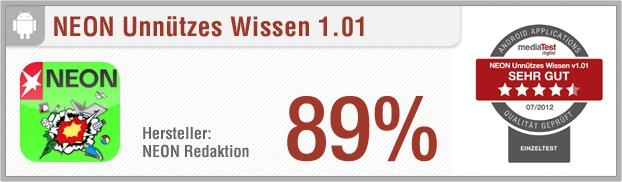 App-Test: NEON Unnützes Wissen - Pro: Interessant, unterhaltsam, Fakten teilbar via Facebook & Twitter // Contra:  Kleinere Werbeanzeigen, kein Handbuch // Der gesamte Test auf: http://www.apptesting.de/2012/07/app-test-neon-unnutzes-wissen/