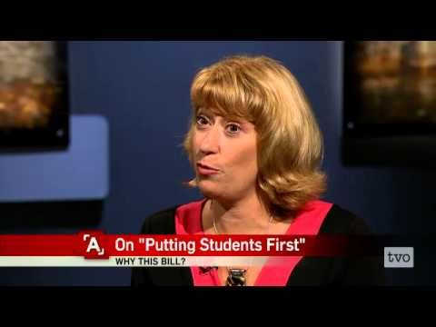 Ontario Minister of Education Laurel Broten defends her government's teacher wage freeze legislation.