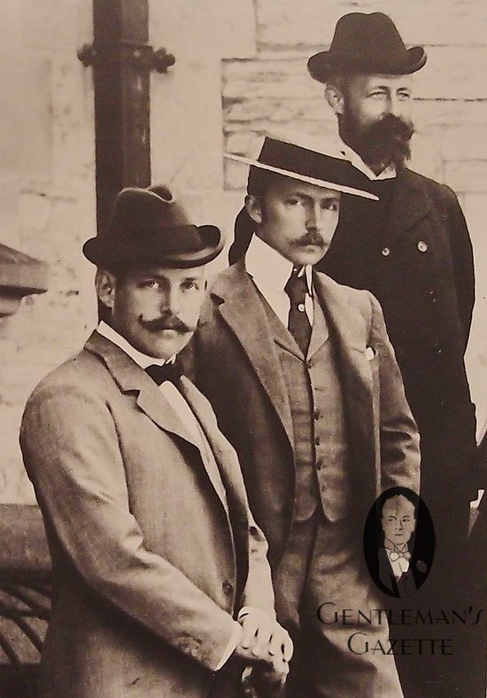 As I researched in to this character idea I needed to know what time era it's based around. The era is around 1900-1930. The fashion is very smart to give the gentlemen appearance.  The facial hair is either a moustache that is long on the sides  or full thick beard.