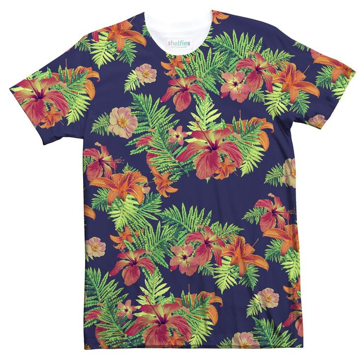 Take your dad's old Hawaiian shirt, add a touch of vintage and stir in a little hipster... and you've got our Relaxed Florals T-Shirt. Dad jokes are definitely not included.    Relaxed Florals T-Shirt-Shelfies-XS-| All-Over-Print Everywhere - Designed to Make You Smile