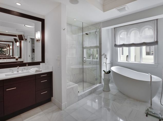 23 best images about contemporary bathroom design on for Soaking tub in master bedroom