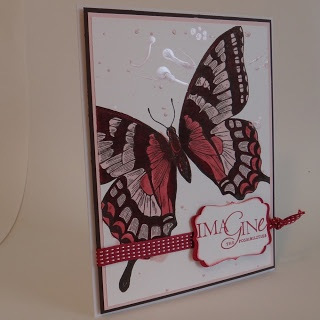 Paper crafts and card idea using Stampin' Up! Swallowtail and Word Play stamp set.  http://supersuelovestocraft.blogspot.com/