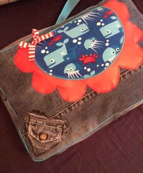 Tasche von Susan Leadbetter – lillestoff enemenemeins underwater love fabric