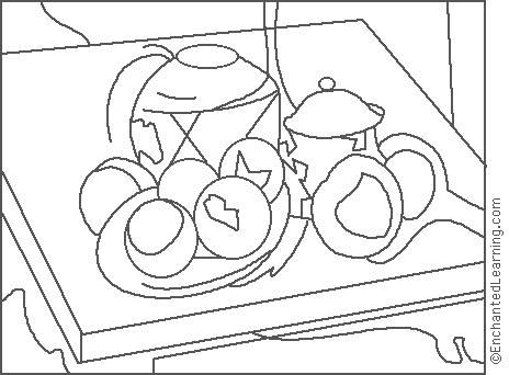 Paul Cezanne: Ginger Jar Coloring Page | Teachurinterest
