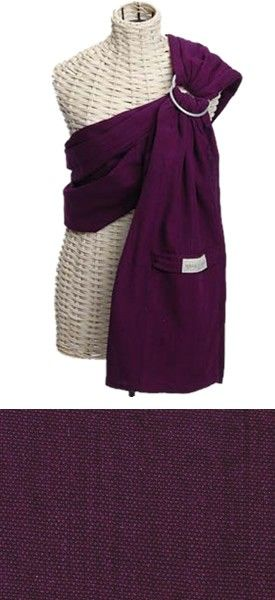 Plum Maya Wrap Ring Sling Baby Carrier