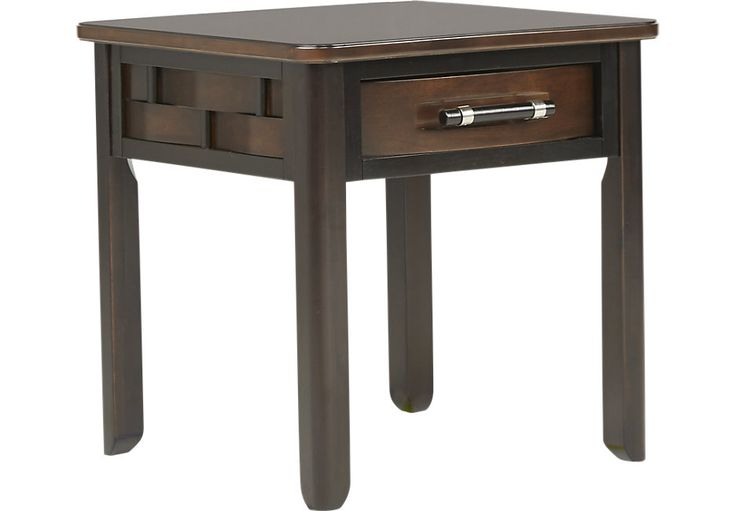 Bedford Heights Cherry End Table-End TablesDark Wood