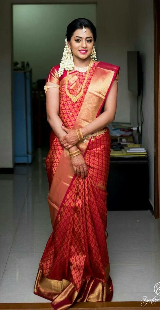South Indian Bride in Red Saree  #SouthIndianBridalSaree #Bridalsaree
