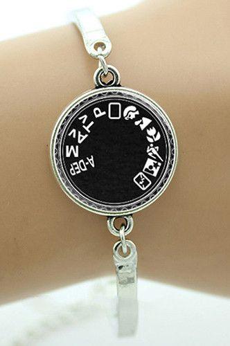 Camera Mode Silver Bracelet Photographer Jewelry Pfbraceleta Pinterest Photography And