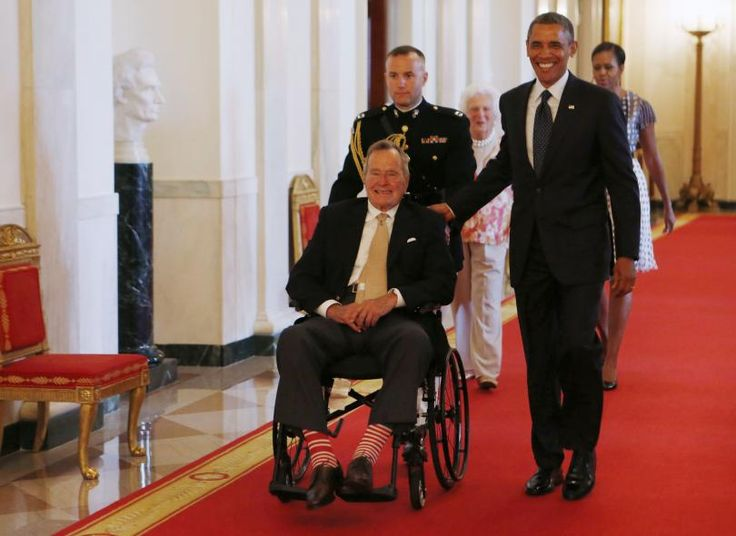 Former US President George HW Bush is well