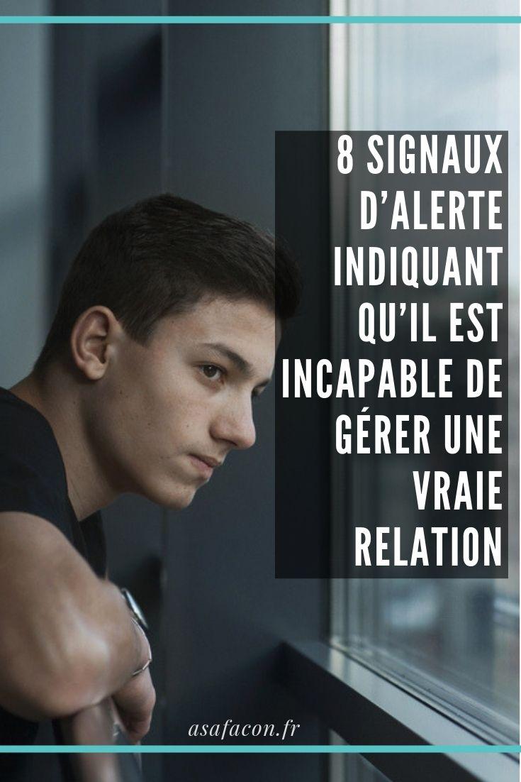 12 signes qu'il ne veut pas une relation sérieuse