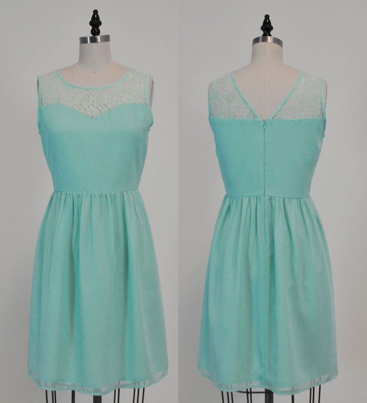 LORRAINE (Mint) : Mint chiffon dress, lace sweetheart neckline, vintage inspired, party, day, bridesmaid by MfandjDesigns on Etsy https://www.etsy.com/listing/206067428/lorraine-mint-mint-chiffon-dress-lace