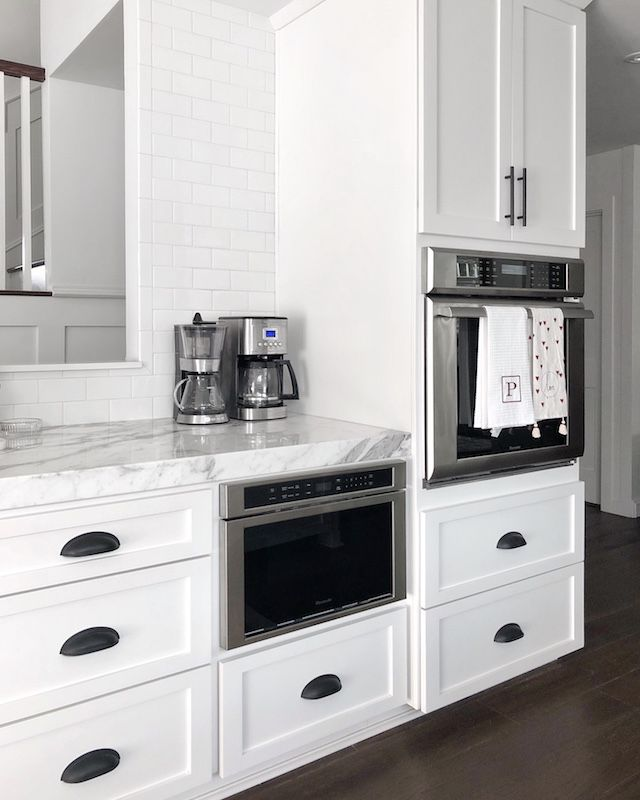 Finally Sharing Our Full Kitchen Remodel My Style Diaries Cabinet Hardware Modern Black Cabinet Hardware Farmhouse Kitchen Cabinets
