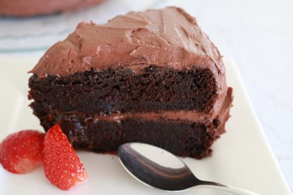 This is truly the best ever chocolate cake! It's so moist, rich and totally delicious!