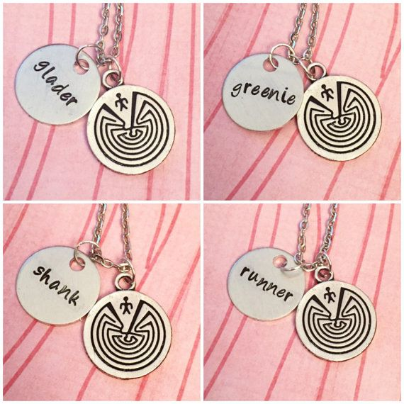 Maze Runner Inspired Best Friends Necklaces  by LulusStampings