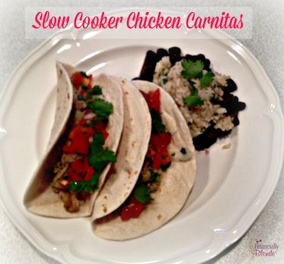 Awesome cheap meal for 4 under $15!!! FB Foodie Friday – Slow Cooker Chicken Carnitas