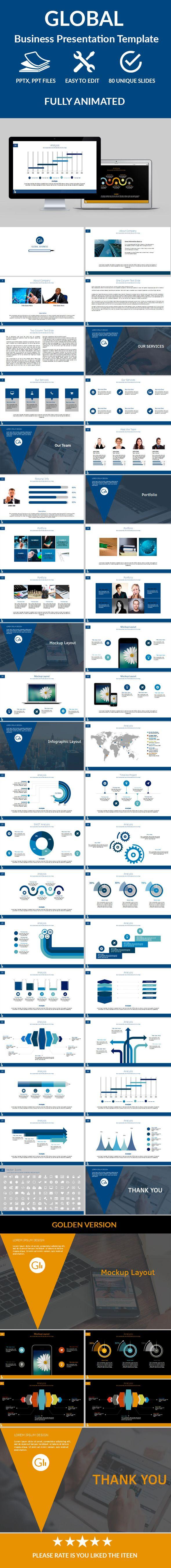 Global Business Powerpoint Presentation Template #design #slides Download: http://graphicriver.net/item/global-business-powerpoint-presentation/12249661?ref=ksioks