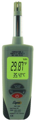 Supco DSP1000 Digital Psychrometer with Dew Point and Wet Bulb, -22 to 212 Degree F, +/- 0.9 Degree F Accuracy... $86.06 (save $13.87) + Free Shipping