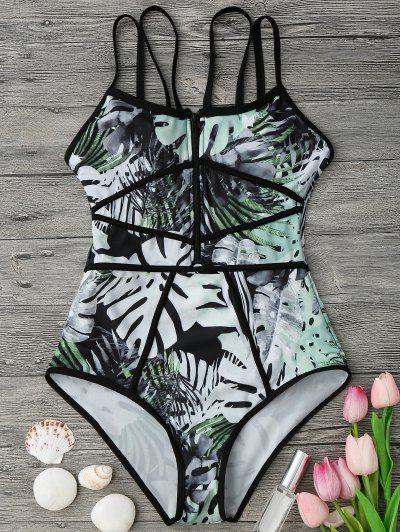 OBTENIR 50 $ MAINTENANT | Rejoignez Zaful: obtenez vos 50 $ MAINTENANT!http://fr-m.zaful.com/piping-tropical-print-one-piece-swimsuit-p_280927.html?seid=3724338zf280927