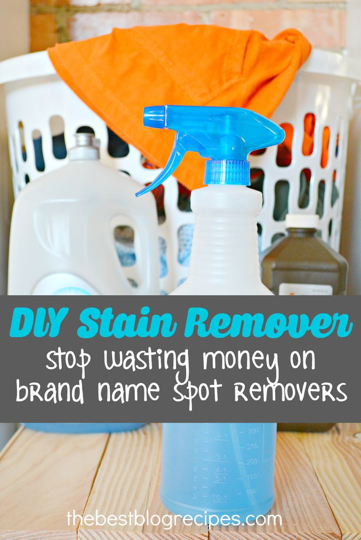 DIY Homemade Miracle Cleaner that will get even the toughest stains out of laundry | thebestblogrecipes.com | #laundry #stain #remover