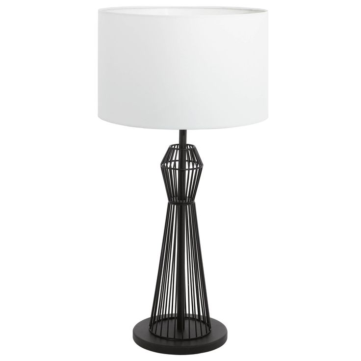 Mejores 10 imgenes de floor and table lamps en pinterest luz de 93989 valseno table lamp 1 light black steel with white fabric height aloadofball Gallery